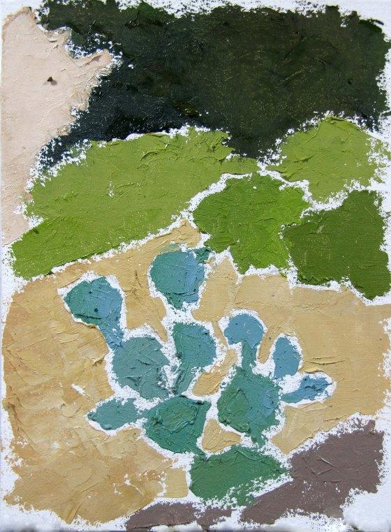 Oil on paper, 6 x 4.5 in.